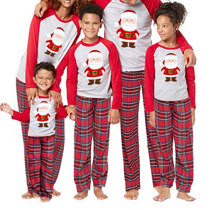 e1a55aa836ed Cute Santa Claus Pyjamas For Family Matching Christmas Pajamas Set Adult  Men Women Kids Baby Sleepwear 2019 New Year S Nightwear Matching Dresses  For Mother ...