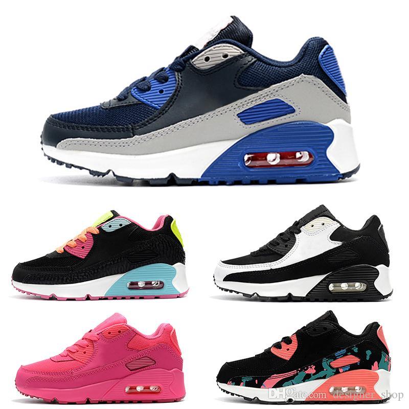 1882be0951 Compre Nike Air Max 90 2019 Baby Girl Boys Calzado Deportivo 90 Zapatillas  De Deporte Botas Para Niños Zapatos Para Niños Eur 25 37 Zapatos De Diseño  Para ...