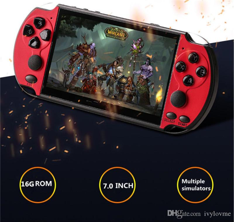 X12 플러스 휴대용 레트로 클래식 비디오 게임 콘솔 휴대용 플레이어 만 내장 7 인치 TFT 스크린 아동 향수 플레이어 아케이드 게임에 대한