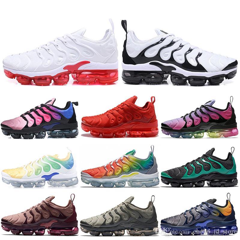 Acquista Nike Air Vapormax TN Plus Designer TN Plus Uomo Scarpe Da Corsa  Donna Sneakers Triple Bianco Nero Gioco Royal USA Trainer Sport Uomo  Athletic ... d4a0d8ca880