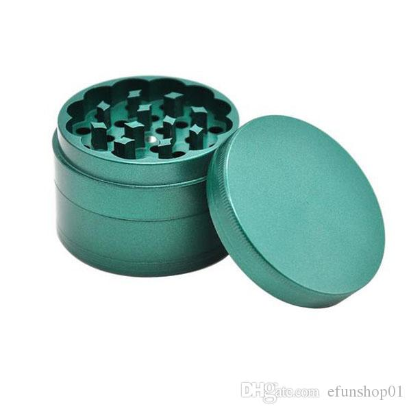 4 Layer 63 MM Pure Color Zinc Alloy Herb Grinder Frosted Metal Tobacco