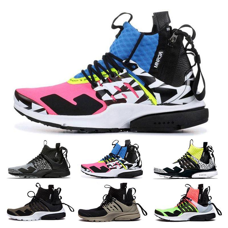 6b9f6d9e ACRONYM® X NikeLab Air Presto Mid 2019 Presto High Quality Acronym Air MID  White Black Hot Lava Zapatos Para Correr Para Hombre Calzado Deportivo  Tamaño 39 ...