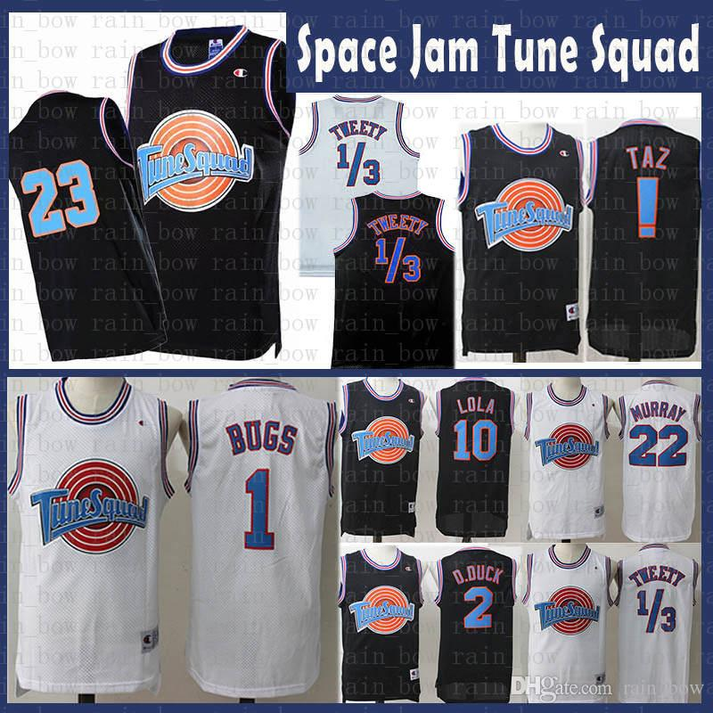 1a5765a62cb Movie 23 Michael 1 Bugs Bunny Jersey ! Taz 1/3 Tweety Space Jam Tune Squad  22 Bill Murray 10 Lola 2 D.DUCK Basketball Jerseys Mens Kids NZ 2019 From  ...