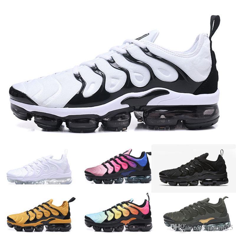 best website 1ab1f fd107 2019 TN Plus Men Running Shoes White presto 97 Olive In Metallic Maxes  Silver Trainers Women Shoes Designer Male Pack Triple Black Sneaker