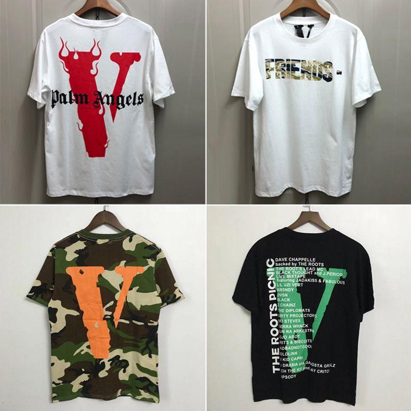 5fc4a320f New Vlone Short Sleeve T-shirt Best Version V Friends Tee Men Women Hip Hop  Streetwear Fashion Casual Cotton Shirts CPI0302
