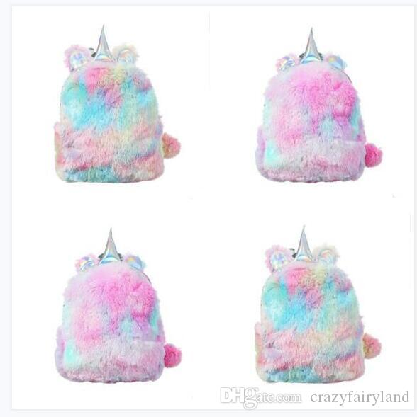 Bags Designer Animal Unicorn Women Backpacks Cartoon PU Leather Hologram Girls  School Bags Girls Teenager Outdoor Travel Storage Bags Gifts Rolling . f53d99f6ab6ad