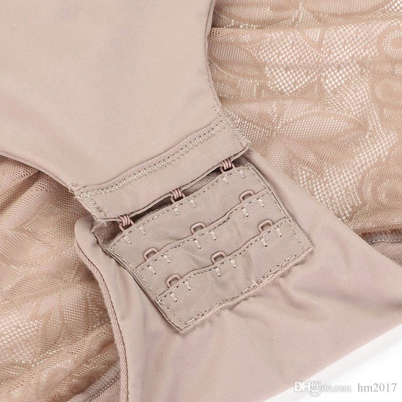 여성 레이스 바디 수트 슬리밍 바디 셰이퍼 밀어 브래지어 배 태그 컨트롤 허리 셰이퍼 속옷 복부 지방 조절 Shaperwear