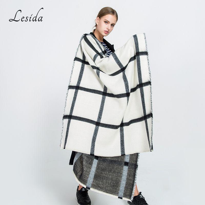 97cd79c9a1 Women Winter Scarf Cashmere Pashmina Plaid Print Scarves Luxury Brand Large Shawl  Thick Warm Echarpes Cape 200*80CM 3422 C18112001 Online with $25.46/Piece  ...