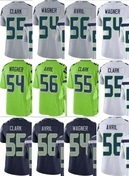 bb4c85c6 Seattle Seahawks custom men/youth/women #54 Bobby Wagner 55 Frank Clark 56  Cliff Avril Vapor Untouchable Limited/rush/elite jerseys