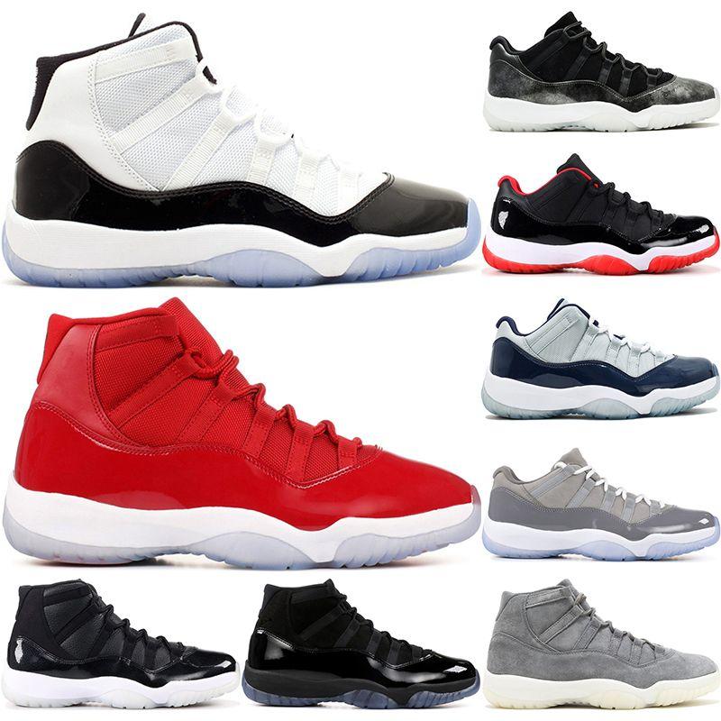 reputable site 880b0 d0406 Nike Air Jordan 11 Retro Zapatillas De Baloncesto Para Hombre New Concord  45 Platinum Tint Space Jam Gris Gamuza Ganar Como 96 82 11S XI Designer  Sport ...