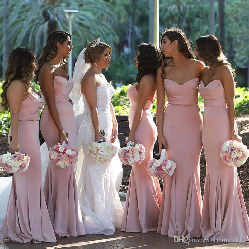 Simple Sweetheart Floor Length Long Mermaid Wedding Guest Dress for ... 8c41c3bf3