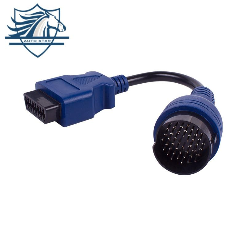 Iveco Blue PS2 38pin Truck Cable OBD1 To Obd2 16pin Extension Cord Lead Free Shipping