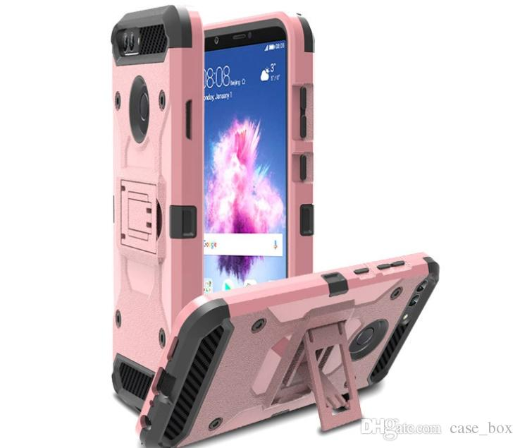 the best attitude e9dd7 c4474 Tough Armor Defender Hybrid Kickstand Rugged Case for Huawei P Smart P20  Pro Mate 10 Lite Cover without Belt Clip