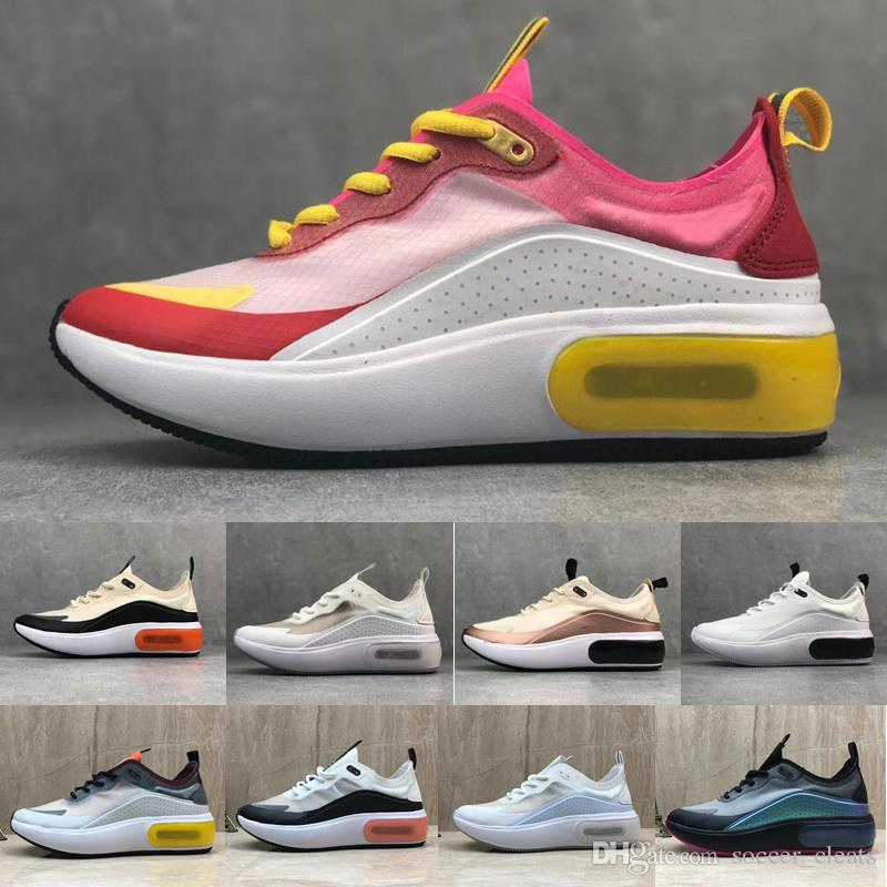 2019 Nike Air Max dia se QS zapatillas mujeres para hombres de alta calidad de gasa de malla transpirable de moda de marca chaussures de diseñador