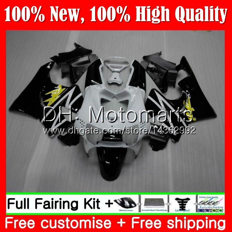 Body For HONDA CBR 919RR Black white CBR900 RR CBR 900RR CBR919RR 98 99 50MT20 CBR 919 RR CBR900RR CBR919 RR 1998 1999 Fairing Bodywork