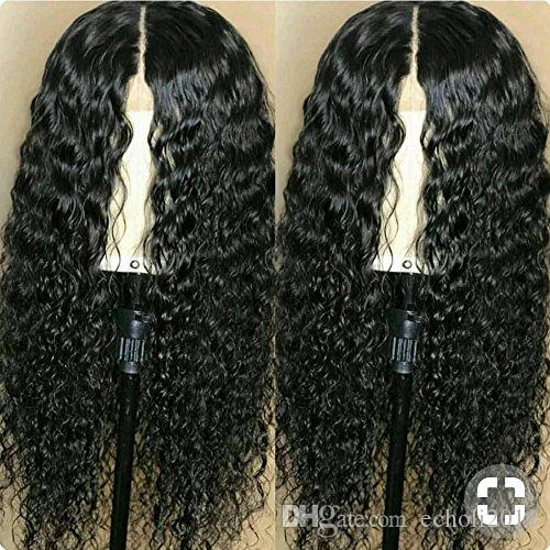Raw virgin Glueless Full Lace Human hair Wig For Black Women Deep wave Curly 100% Real Human Brazilian Hair lace front wig