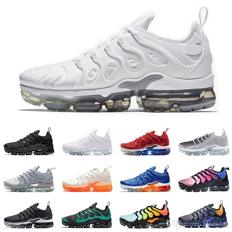 19f21005e273 2019 TN Plus Running Shoes For Men Women Sneakers PURE PLATINUM Triple  Black White USA Cool Wolf Grey Mens Trainers Designer Sports Shoe Trail  Running Shoes ...