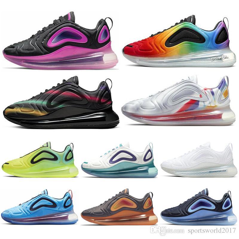 Nike Air Max 720 Shoes 2019 720 Zapatos para correr para hombre Mujeres Northern Lights Neon Triple Negro Carbón Gris Puesta de sol Corss Senderismo