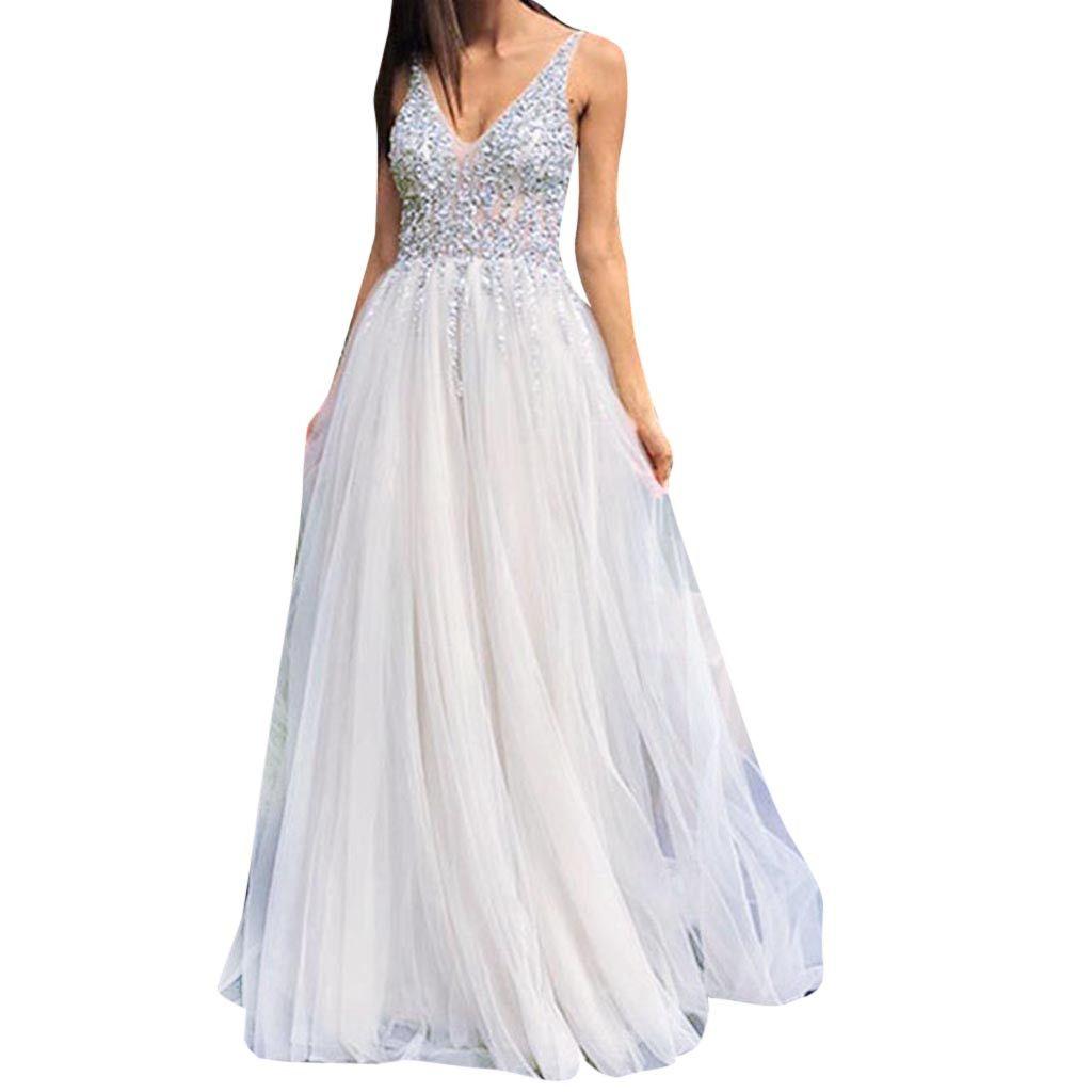 Vestidos blancos largos para mujer