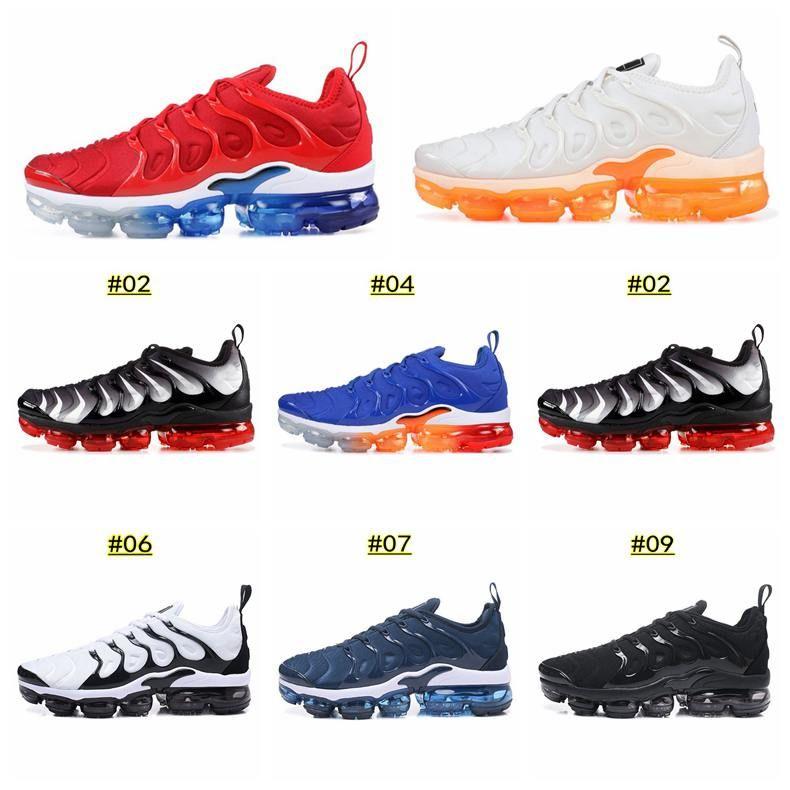 new product f9594 46a40 Compre 2019 Nike Vapormax TN PLUS Hombres Mujeres Zapatos De Diseñador Negro  Velocidad Rojo Blanco Juego Royal Anthracite Ultra Blanco Negro Zapatillas  2019 ...