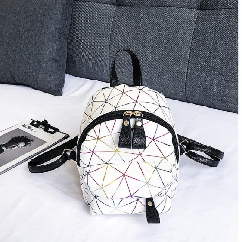 1e7ae6e00b20b Miyahouse PU Leather Geometric Pattern Mini Backpack Women Trendy Latest Fashion  Backpack For Young Female Small Cute Rucksack Cute Backpacks Hiking ...