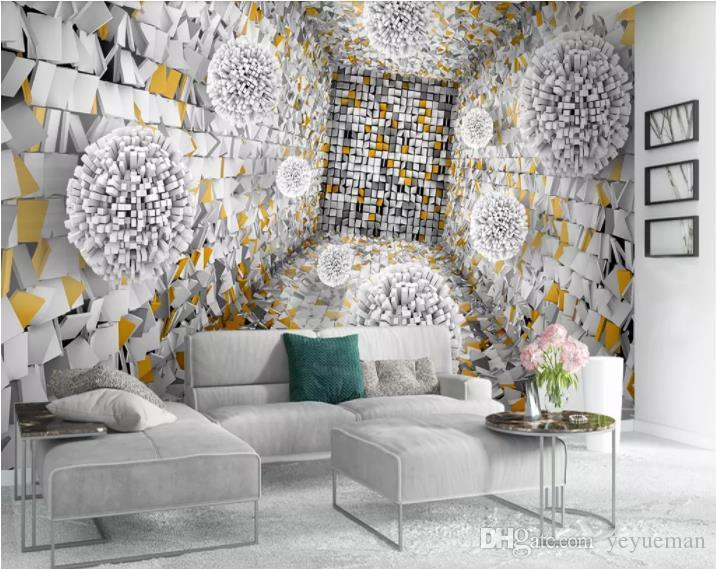 Benutzerdefinierte europäische stil moderne tapete für schlafzimmer  wohnzimmer ball stein fototapete tapete für wände 3 d