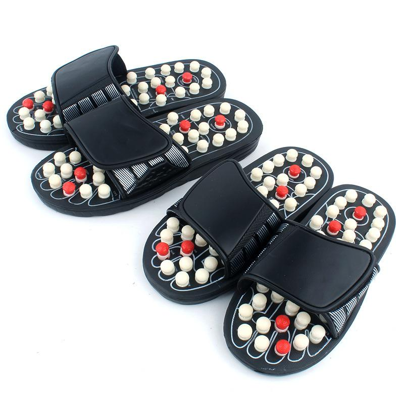 2019 NEW Acupoint Massage Slippers Sandal For Men Feet Chinese Acupressure Therapy Medical Rotating Foot Massager Shoes
