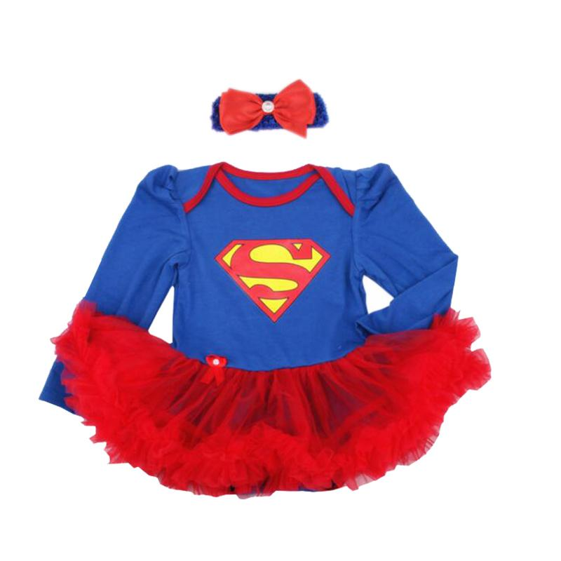 3398ebcfe1214 Newborn Baby Girl Clothes Batman Superman Girl Rompers Dress Infant  Birthday Party Outfit Clothing Bebes First Romper Costumes J190525