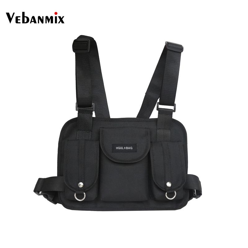 a16ff3e174979 Vebanmix 2018 fashion chest rig waist bag hip hop streetwear functional  tactical chest bag cross shoulder bags bolso Kanye West
