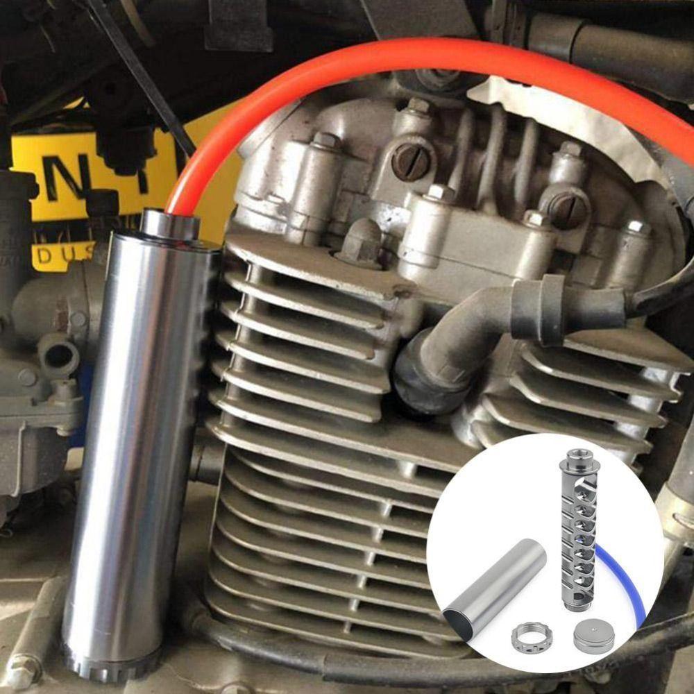 6 Zoll großes Auto Kraftstofffilter 1/2-28 5/8-24 Lösungsmittelfalle Spiralmetallrohr Autoteile
