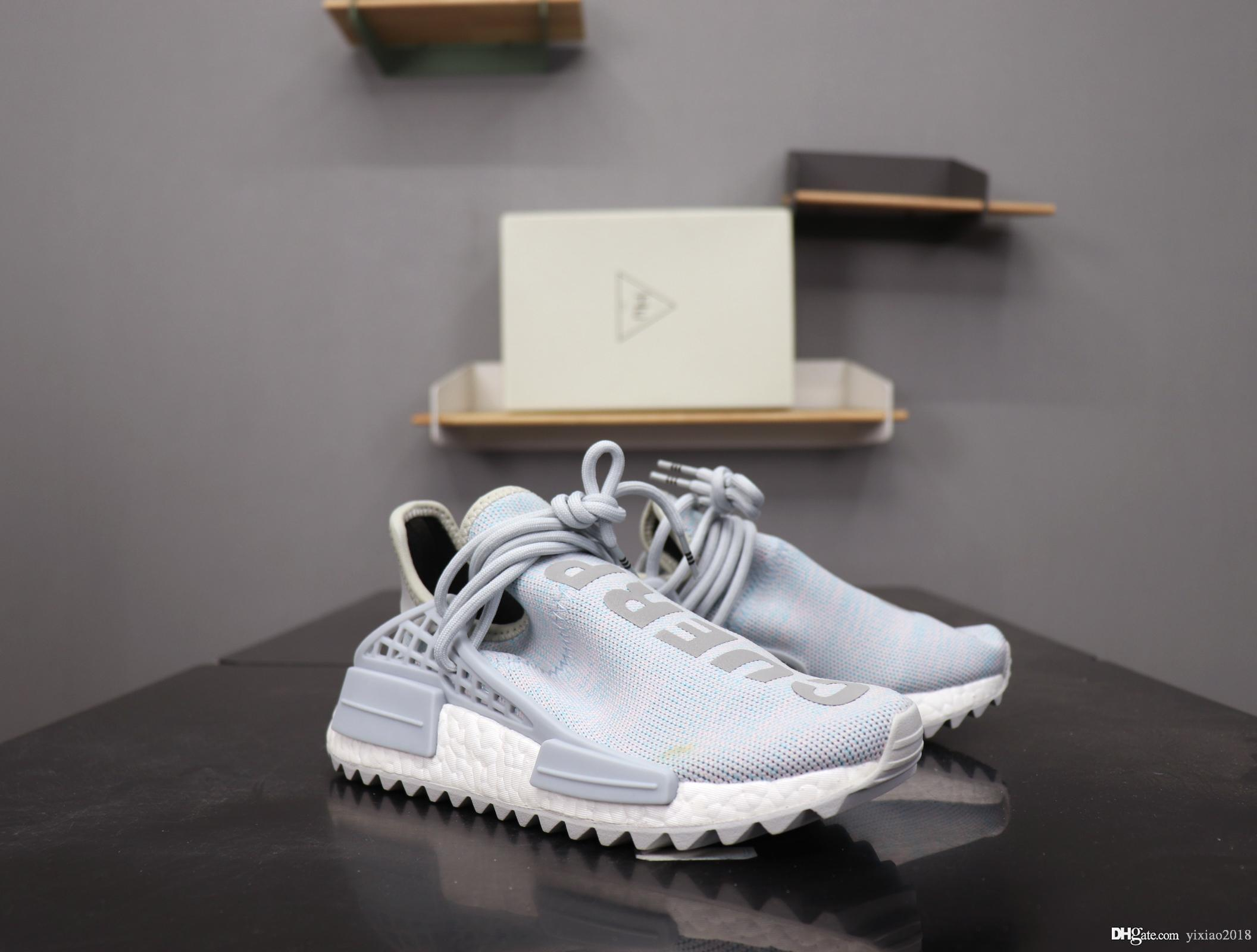 new style c28dd 19816 NMD BBC Human Race Mens Running Shoes High Quality Pharrell Williams  BILLIONAIRE BOYS nmds Reflective Sneakers Women Men Basketball Shoes