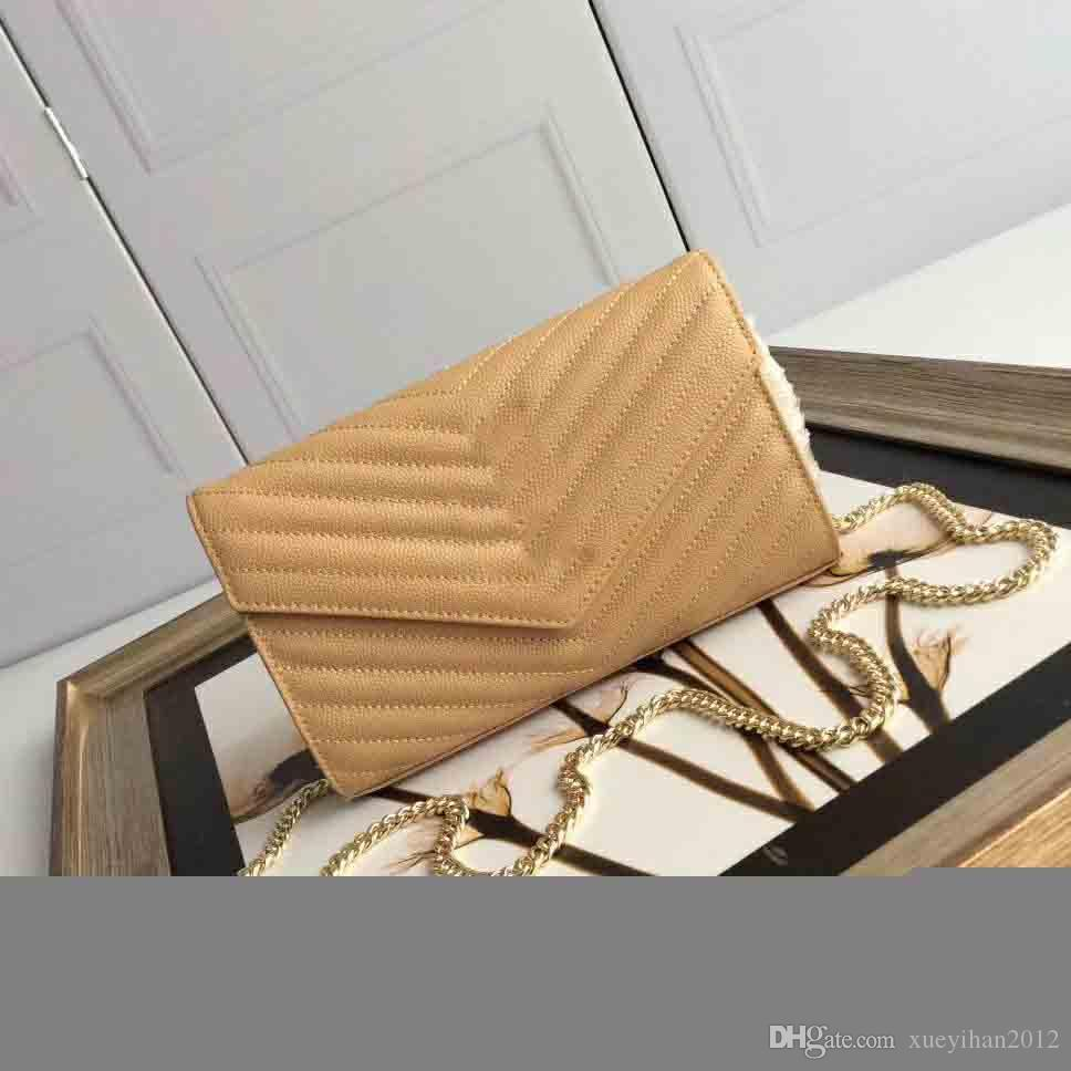 2019Deluxe chain bags, designer's one-shoulder bags, women's super-hot skew bags, website synchronization superstar handbags