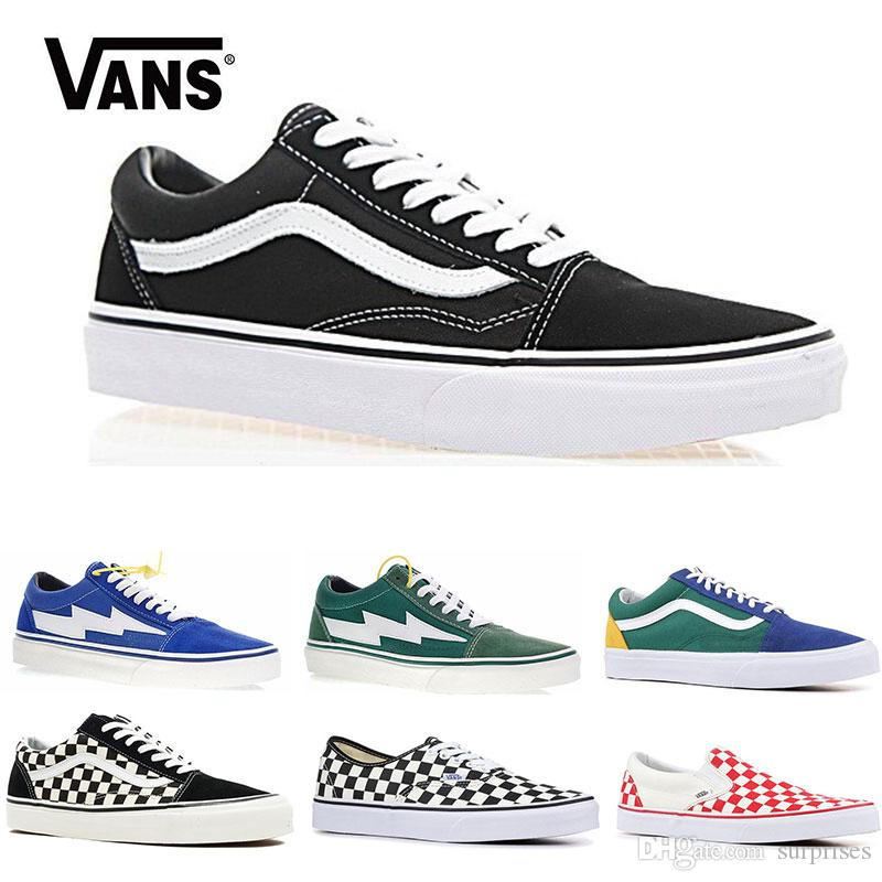 0b6cdb00ae Original Vans Old Skool Sk8 Hi Mens Womens Canvas Sneakers Black White Pink  YACHT CLUB Strawberry Fashion Skate Casual Shoes Size 36 44 Dress Shoes  Wedge ...