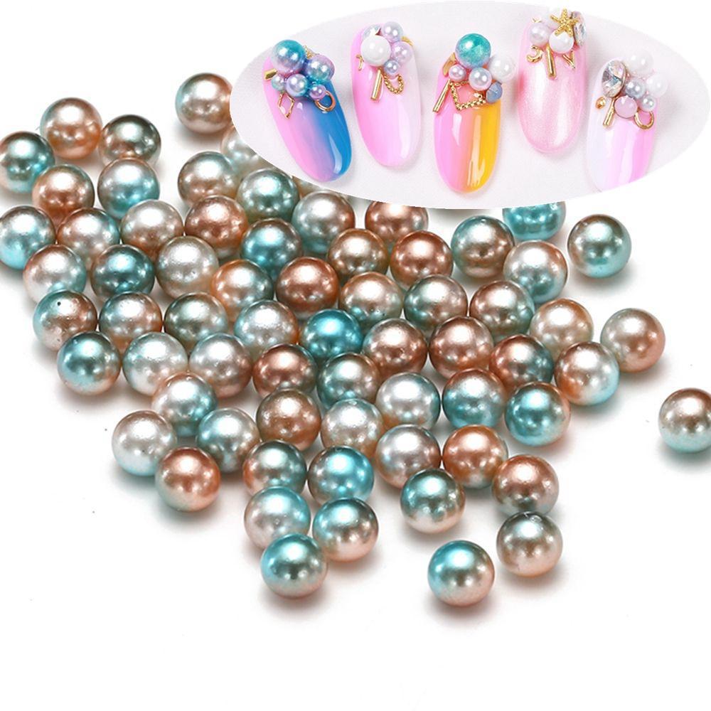 c6485844b1d8 Compre Paquete Grande RainBow Color 3 4 5   6mm Sin Agujero Perlas Redondas  Perlas De Imitación Pendientes Joyería Del Vestido De Boda De DIY  Decoraciones ...
