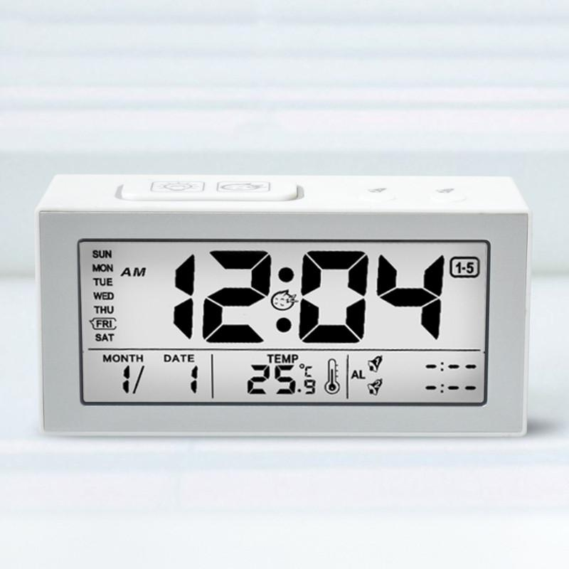 d7b6043a438fd1 Acquista Sveglia Con Retroilluminazione Digitale Sveglia Snooze Con Sveglia  Elettronica Con Sensore Touch Temperatura Sveglie Nero / Bianco A $36.18  Dal ...
