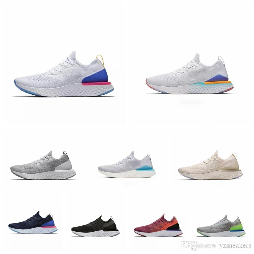 New Epic React v2 Designer men women fly Shoes BEACH knit Sprite Belgium PE Dusk to Dawn BETRUE Oreo GS running sport Sneakers