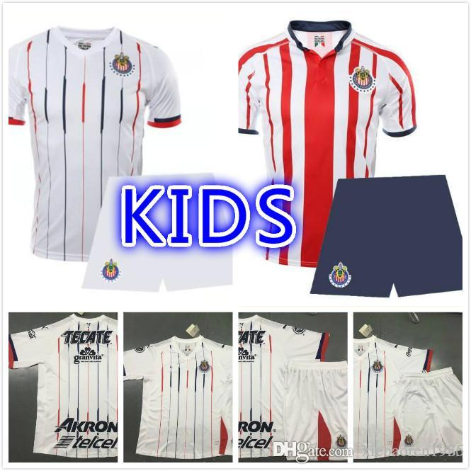 df6d522bd 2019 2018 19 Mexico Clud Chivas Kids Away Kits Soccer Sets 2018 2019 Chivas  Boys Football Shirts Sets 18 19 Chivas Children Football Rugby Sets From ...