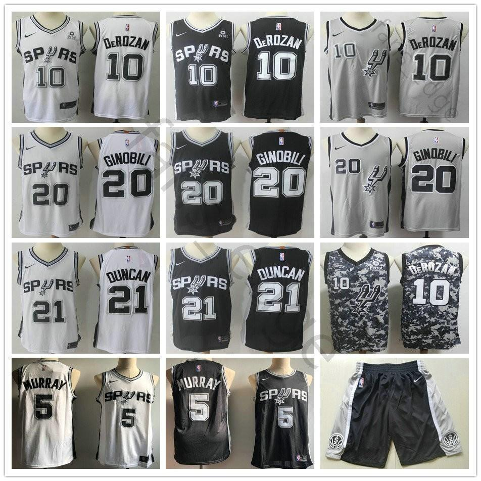 San Antonio 10 DeMar DeRozan Jerseys Spurs 5 Dejounte Murray 9 Tony ... 8702e9cff