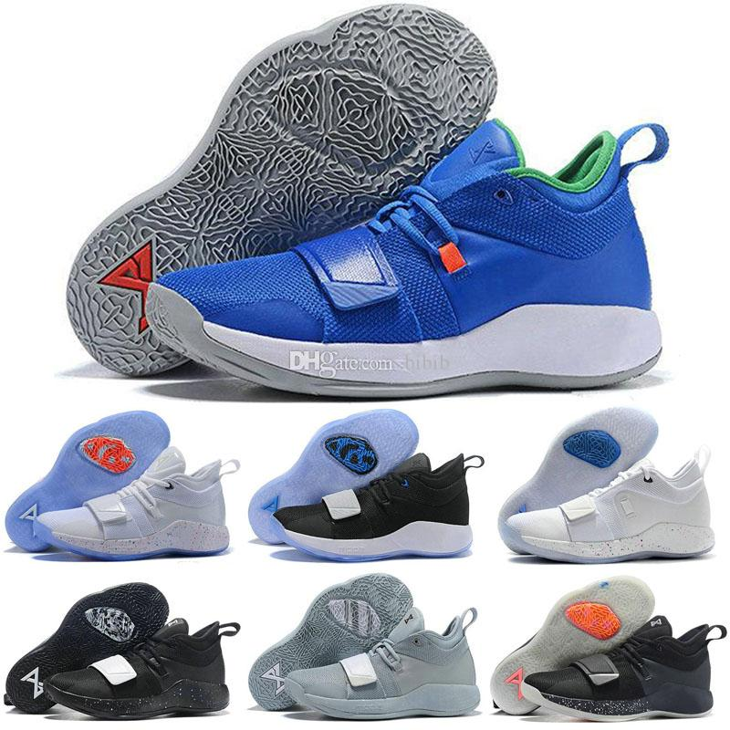 best website 3d446 d54f9 2019 x PG 2.5 Wolf Grey Kids Yellow White Paul George 2.5 Champion Men  Running Shoes for Good quality Sports Sneakers