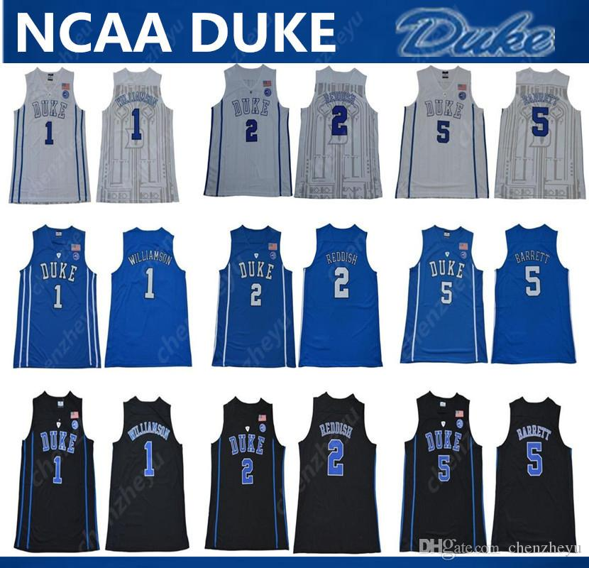 brand new 0d7a5 4a5f2 2019 men s NCAA Duke Blue Devils Jersey 1 Zion Williamson 2 Cameron Reddish  5 RJ Barrett College Basketball Jerseys