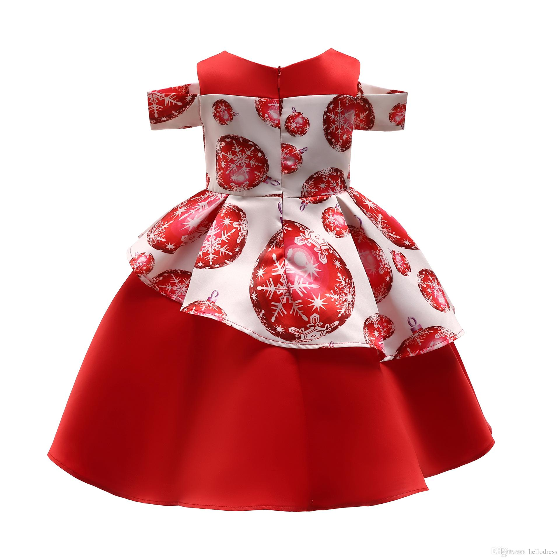 106693c962a Red Off Shoulder Ball Gown Flower Girl Dresses Short Sleeves Jewel Neck Knee  Length Floral Formal Kids Dresses For Prom Party Holiday Casual Dresses For  ...