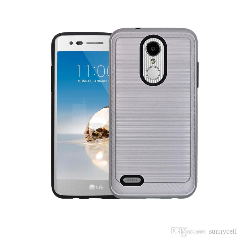 Hot Sale For Samsung j2 J3 J5 J7 Prime 2017 2015 2016 Fine Brushed Metal Texured Design Durable Hybrid Shock Absorbent Cover Case