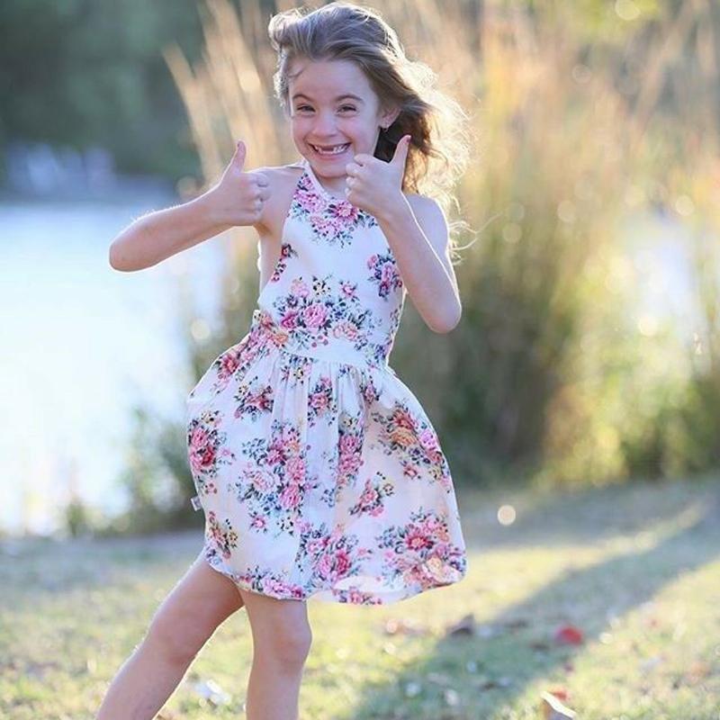 2019 Toddler Baby Girls Princess Tutu Dress Floral Pageant Party Dress Sundress