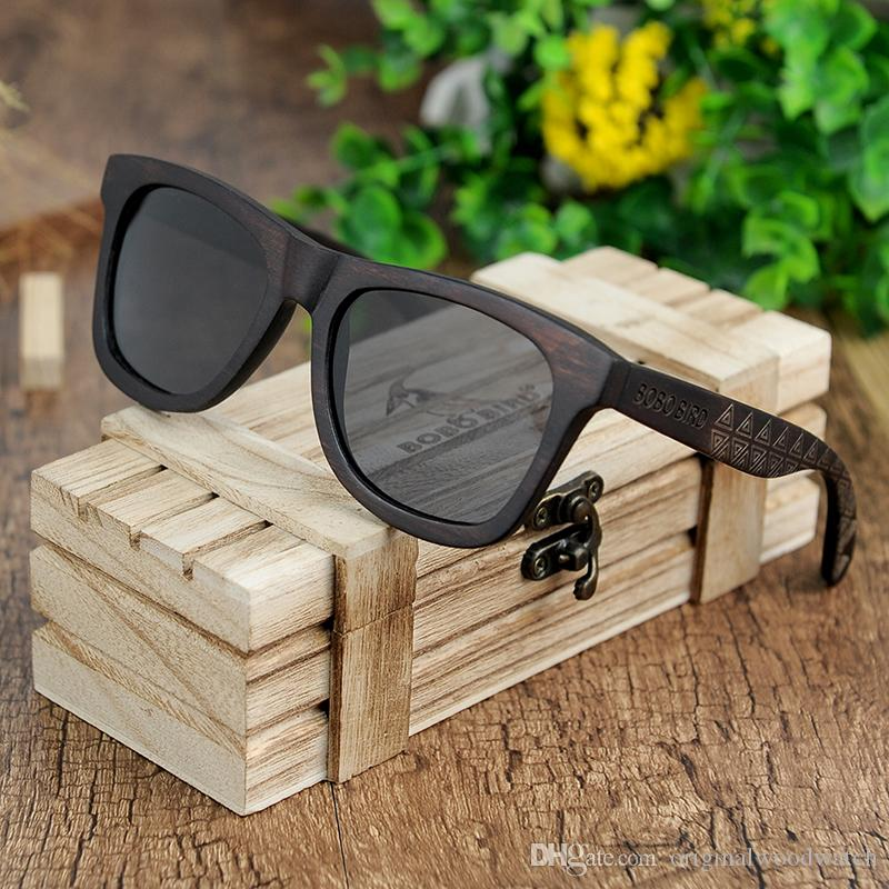 7fb9a6684f9 BOBO BIRD Retro Ebony Wooden Sunglasses With Grey Polarized Lens And Fashion  Design Laser On Wooden Frame Dropshipping OEM DG08a Native Sunglasses  Wholesale ...