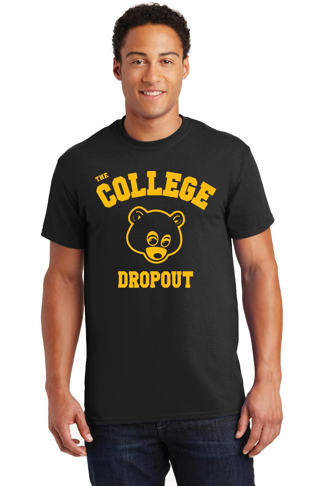 The College Dropout T-shirt Kanye West Feel Pablo RAP Musique Tee ShirtsFunny livraison gratuite Unisexe Casual top