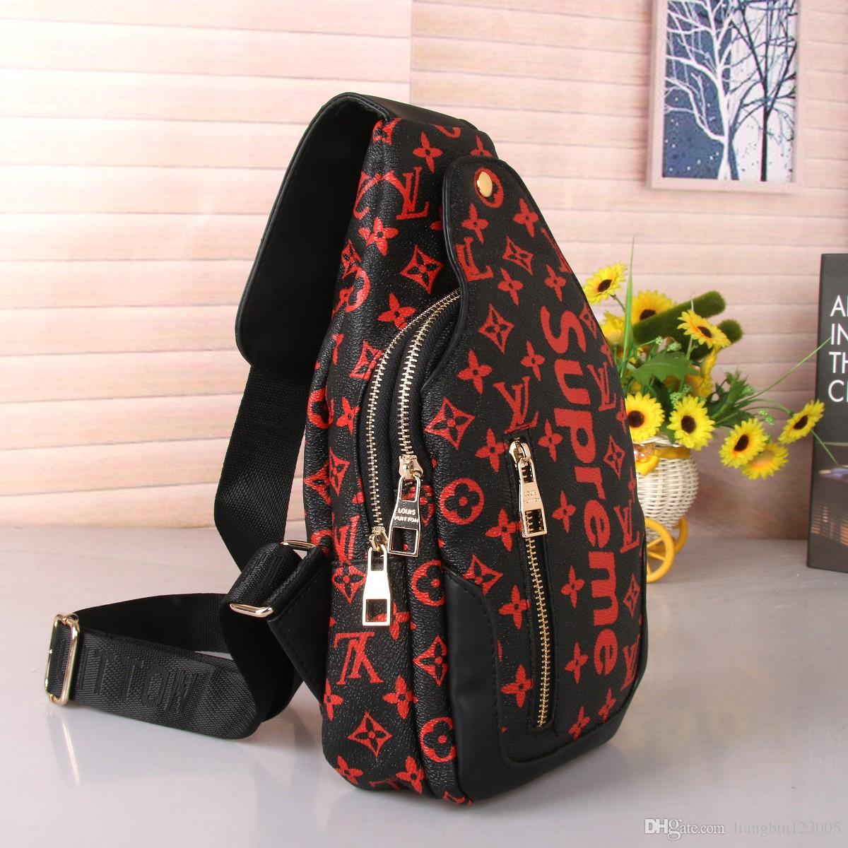 red sugao waist bag print sport men and women travel bag fanny pack belt chest bag running phone purse sport outdoor high quality