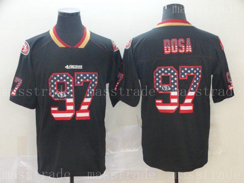 half off 2d3f2 1e16f 49ers Home Stitched Francisco Flag San Away Nick Bosa ...