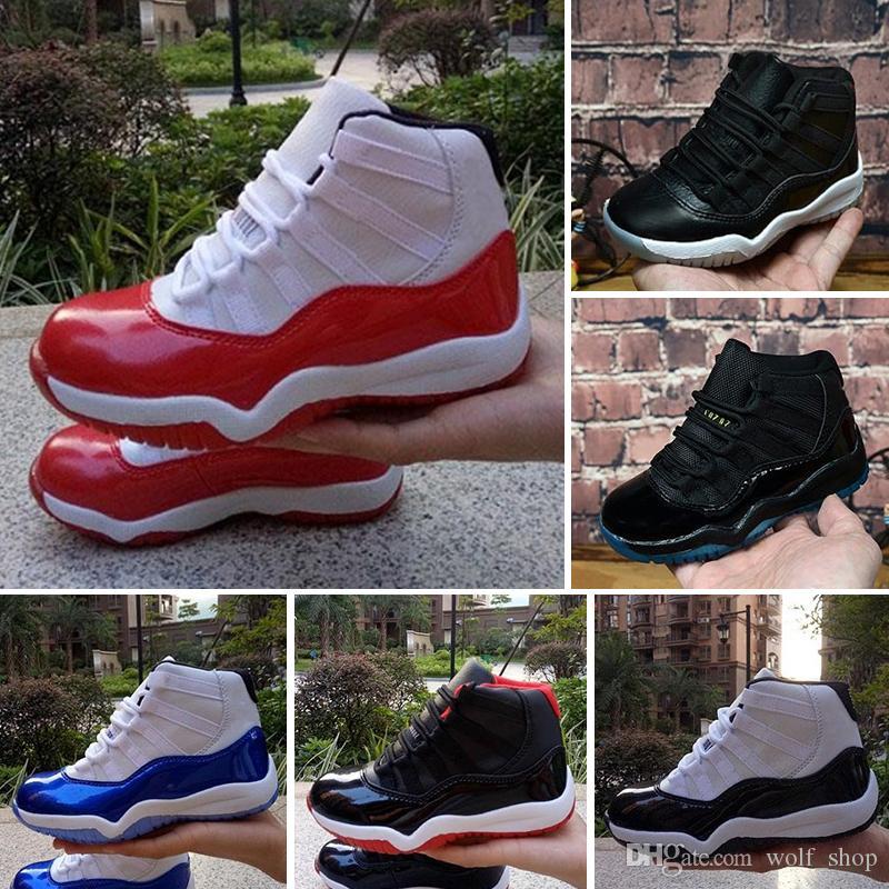 pas cher pour réduction 609df c29bb Nike Air Jordan 11 2019 11 11s Chaussure de basket-ball Enfant Concord  Space Jam Légende Bleu Chaussures de sport pour enfants XI formateurs  Filles ...