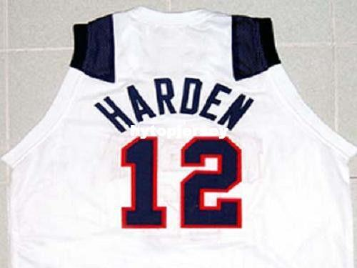 sports shoes 31898 b027e Cheap Mens JAMES HARDEN TEAM JERSEY NEW WHITE ANY SIZE XS - 5XL Retro  Basketball Jerseys NCAA College
