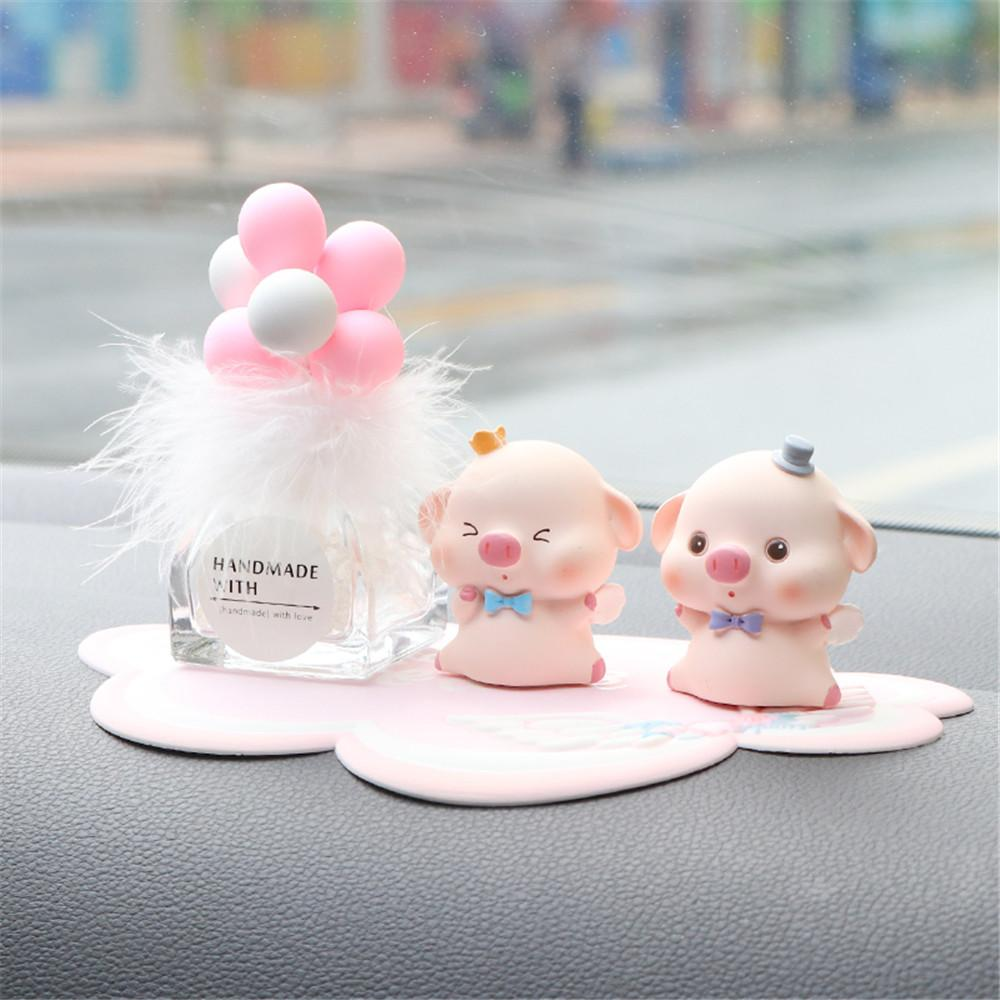 Car Dashboard display graziose decorazioni Piggy Ornament Gadget creativa Home Office Decor Car